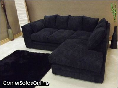 dylan jumbo cord black fabric corner group sofa 84 details about ...