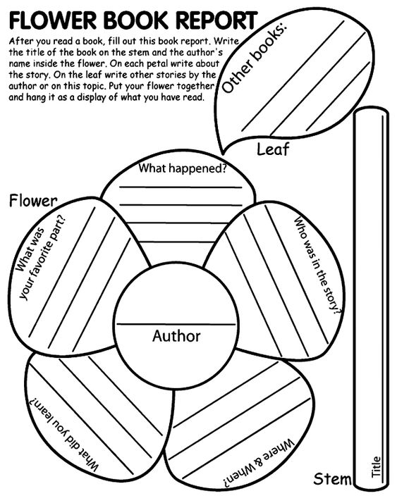 Flower Shape Book Report-- it would have to be pretty big