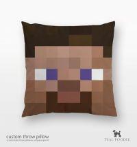 Minecraft Steve Throw Pillow - Steve Mine Craft on Etsy ...