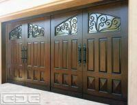exterior design, Solid Garage Door Design With Windows ...