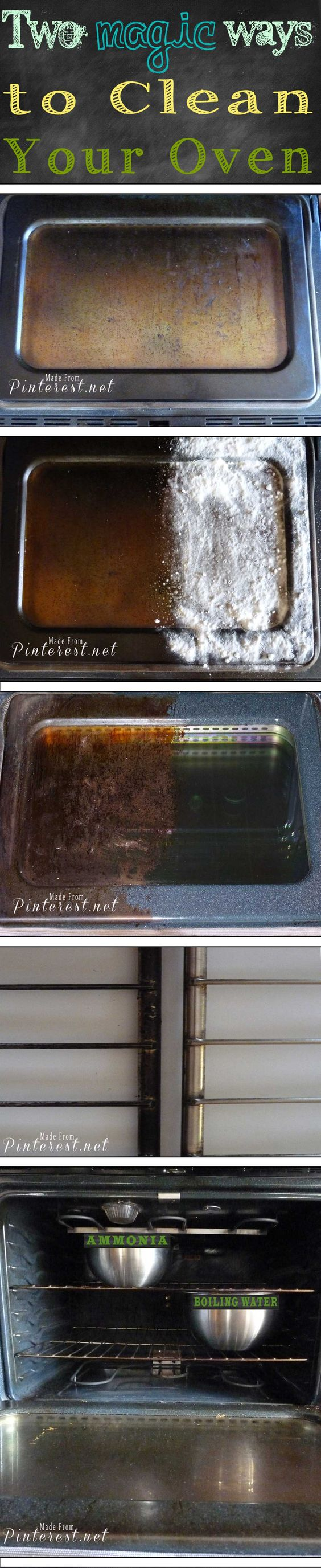 Magic #Oven Cleaning Method - If I had known it was this easy to get my disgusting dirty oven clean so fast and easy I would have cleaned it much sooner! I would also clean it every couple of months! Do your 5 minute prep the night before, wake up the next morning, wipe it clean and you are done! AWESOME!!: