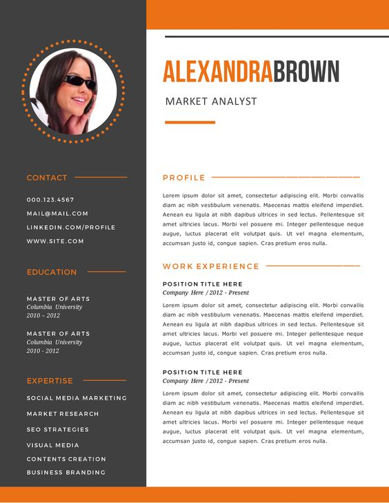 Burnt Orange Resume Examples Sample Resume Templates