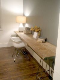 Desks, Wood desk and Long desk on Pinterest