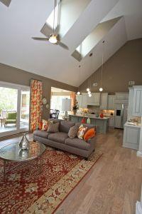 Living room vaulted ceiling lighting ideas skylights