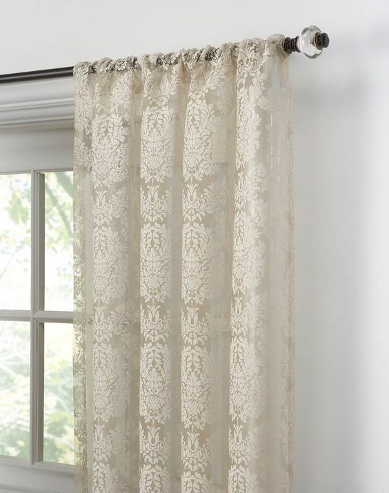 Traditional Damask Lace Curtain Panel Curtainworks Com 10 49
