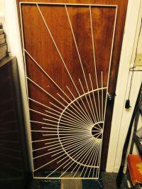 Mid Century Metal Sunburst Screen Door Grille | Danish ...