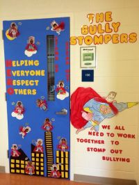 Superhero anti bullying door decoration | School Stuff ...