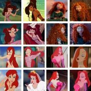 red haired disney
