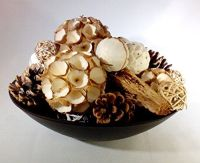 Winter White Balls Cones and Pods Decorative Spheres Ball ...