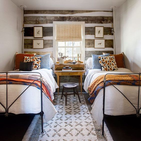 """""""Everything you need in your guest room this fall, and then some. 