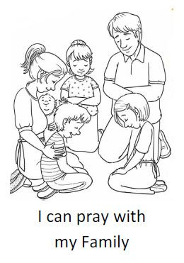Coloring sheets, My family and Family prayer on Pinterest