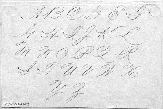 cursive lettering styles posted on Sunday, September 29th