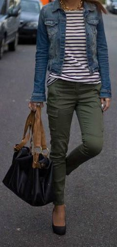 stripes + khaki