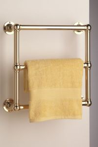 Wall Mounted Low energy Electric Heated Towel Rail. Shown ...