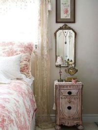 French Country Bedroom with Romantic Pink Toile & Decor ...