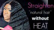 straighten hair heat flats