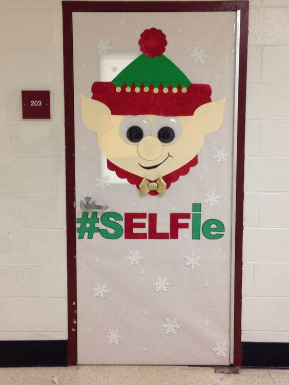 Elf Christmas door decorating contest!