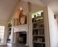 Traditional Living Room Fireplace Mantel Design, Pictures ...