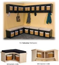 Corner Cubby Bench / Coat Rack | Design Ideas - Mudroom ...