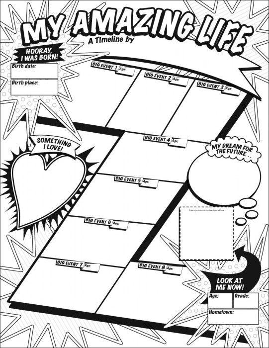 Graphic Organizer Posters: My Timeline (Grades 3–6