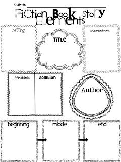 Story elements, Graphic organizers and Fiction on Pinterest