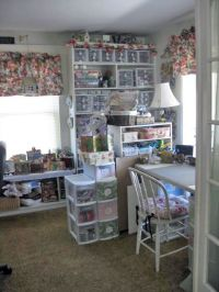 lori's shabby chic craft room / scrap room