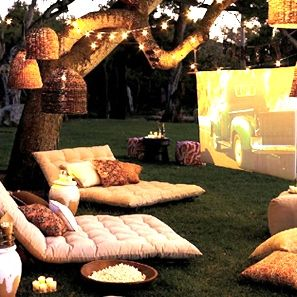 outdoor home entertainment center