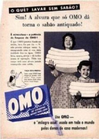 LAVAR SEM SABÃO - A tentação durou algumas semanas. Um dia foi, afinal, revelado o segredo. A pré-campanha introduzia nova marca de sabão. Em pó! Verdadeira revolução numa época em que pedras de sabão Campeiro e Minervadisputavam a preferência das lavadeiras.: