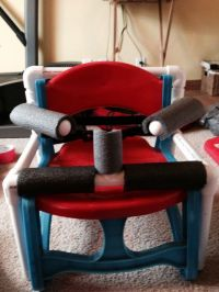 PVC pipe frame for toddler chair - this could be adapted ...