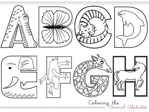 I came across these fabulous coloring animal alphabet