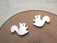 Forest Squirrel Earring - silver stud earrings - animal ...