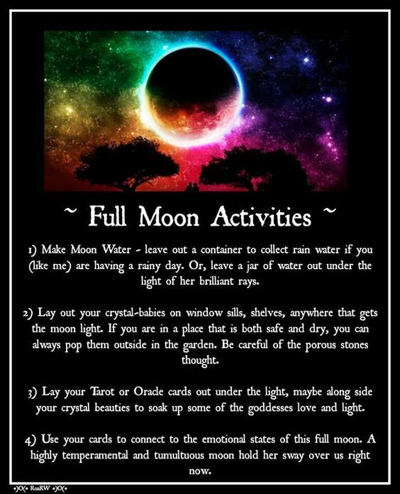 Full Moon Activities (Printable)