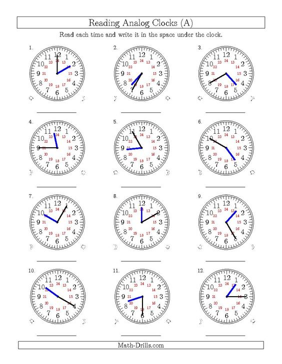 New 2015-04-02! Reading Time on 24 Hour Analog Clocks in 5