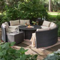 Outdoor Belham Living Meridian Wicker Chat Set with Round ...