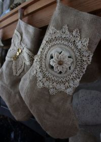 Shabby Chic Burlap Crafts | went with a butterfly theme ...