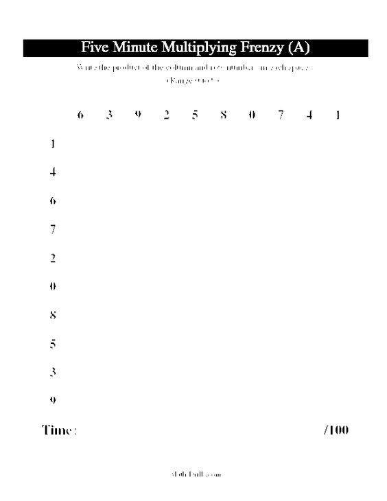 Multiplication, Multiplication worksheets and Worksheets