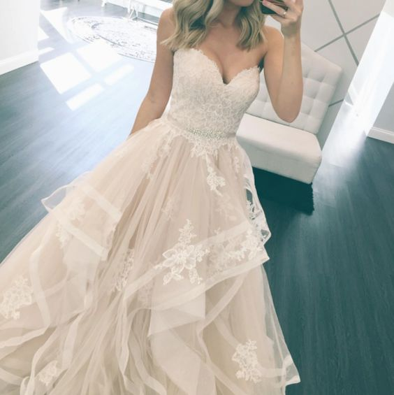 Stella York Bridal // Layered Ballgown // Wedding Dress// One & Only Bridal Boutique //http://www.oneandonlybridalboutique.com/stella-york: