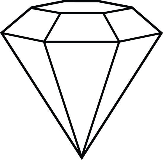 Free clipart images, Diamonds and Black and white drawing