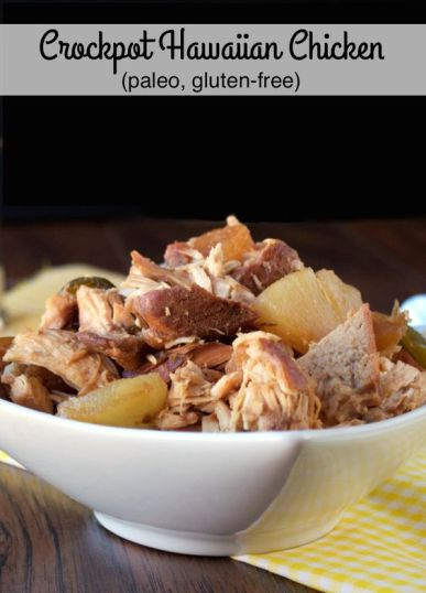 5-Ingredient Paleo Crockpot Hawaiian Chicken | Plaid and Paleo: