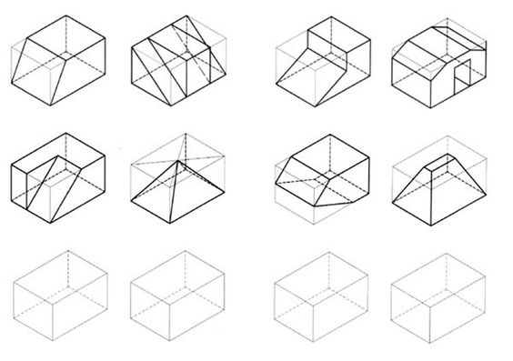 Graphics, Isometric drawing exercises and Drawings on
