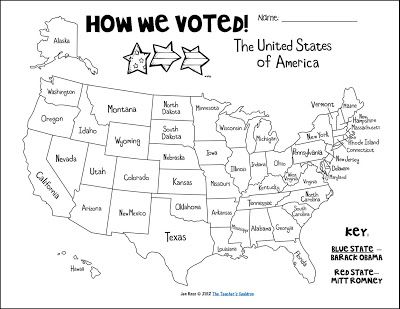 fill in the states as each president