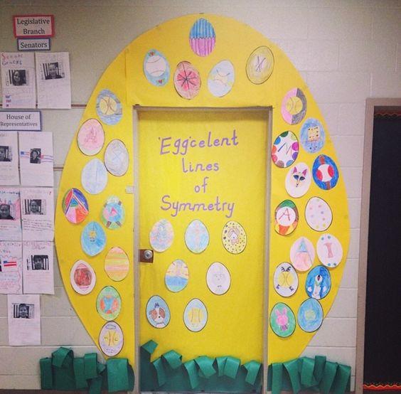Classroom door decorations for Easter! #classroom #