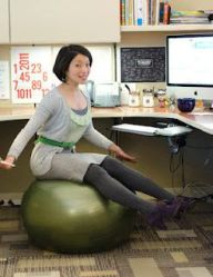 Bouncing While You Work -- Swapping Your Desk Chair for a Stability Ball: