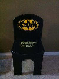 Batman Time-out chair - I made this for a friend. | Stuff ...