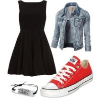 Cocktail Dress And Converse   www.imgkid.com - The Image ...