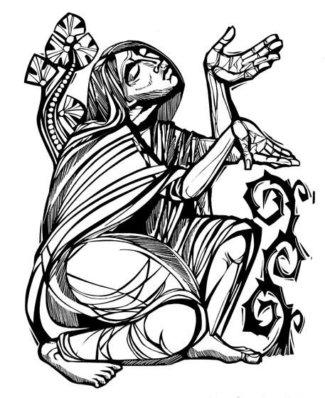 Mary Magdalene Clip Art in Color