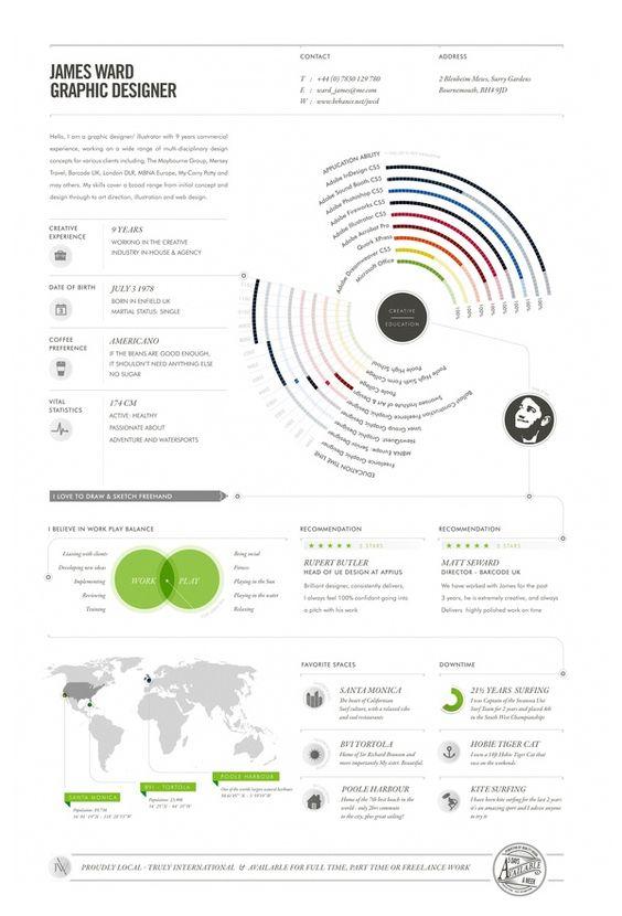 Minimalist Infographic Resume 8 Infographic Resumes