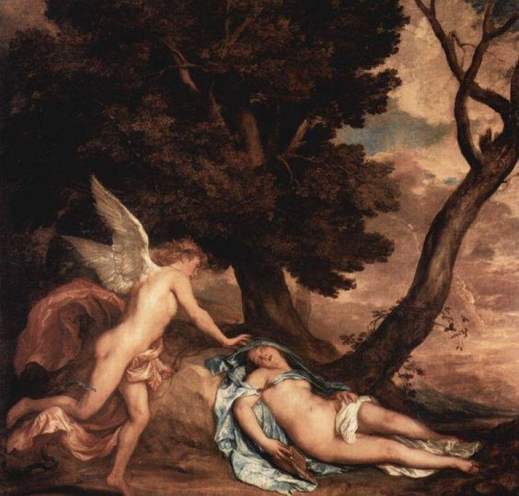 Amore e Psiche | Antoon Van Dyke, 1638 | #WorldSleepDay: