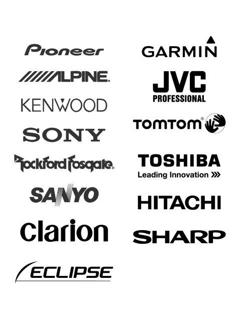 Free Logos Vector Brands Pioneer, Garmin, Lpine, JVC