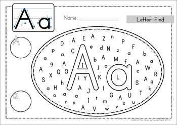 Alphabet Letter Find: Upper and Lower Case Letters